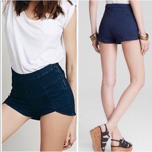 Free People High-Rise Petal Shorts Denim Size 29